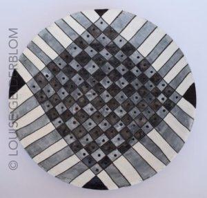 Ceramic plate by Louise Gelderblom
